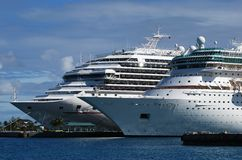 Cruise Liners In The Bahamas Stock Photo