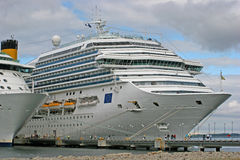 Cruise Liners at Jetty royalty free stock image