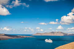 Cruise liners near the Greek Islands Stock Image