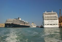 Cruise liners Stock Image