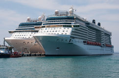 Cruise Liners Royalty Free Stock Photos