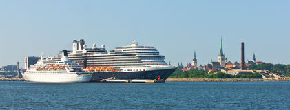 Cruise liners in Tallinn, Estonia Royalty Free Stock Photos