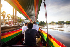 Cruise on long tail Boat in Thailand Stock Images