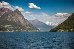 Cruise on Lugano lake stock image