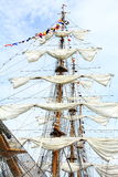 Cruise  mast and sail. Mast and sail on cruise Royalty Free Stock Photography