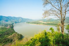 The cruise on the Mekong River . stock photography