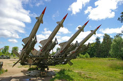 Cruise missile launcher. Ground-based cruise missiles on  launcher Royalty Free Stock Photography