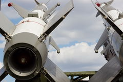 Cruise missiles on the launcher Royalty Free Stock Photos