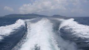 Cruise naar Manta Ray Watching Area in Ishigaki-eiland, Okinawa stock video
