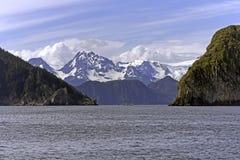 Cruise near Seward, Alaska. Ressurection Bay near Seward in Alaska Stock Photo