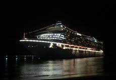 cruise night ship στοκ φωτογραφία