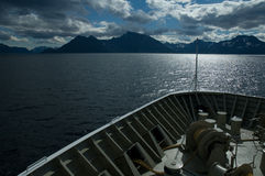 Cruise in a norwegian fjord Royalty Free Stock Image