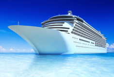 Cruise ocean and blue sky Royalty Free Stock Photo