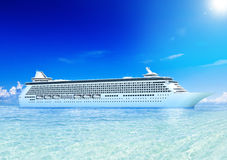Cruise Ocean and Blue Sky Stock Photo