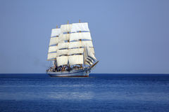Cruise on an old sailboat. Under sail Stock Image