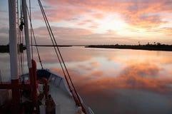 Cruise op de Rivier van Senegal, West-Afrika stock afbeeldingen