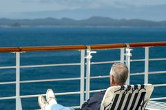 Cruise passenger relaxing Royalty Free Stock Photo