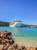 Cruise passenger ship in the Caribbean Stock Images