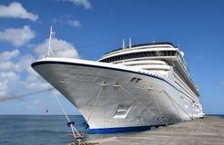 Cruise passenger ship docked at pier Stock Image