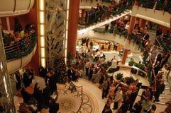 Cruise passengers celebrating Royalty Free Stock Photos