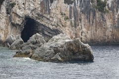 Cave, Ionian Sea Greece Royalty Free Stock Photos