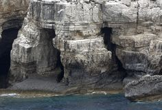 Caves, Ionian Sea Greece Stock Images