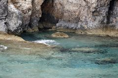 Caves, Ionian Sea Greece Stock Photo