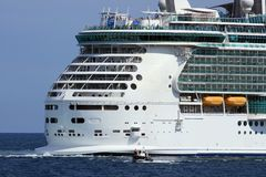 Cruise and pilot boat Stock Image