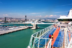 Cruise Port in Barcelona, Spain Royalty Free Stock Image