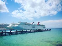 Cruise port at Cozumel Mexico royalty free stock photography