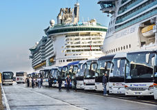 Cruise Port in Rome Stock Images