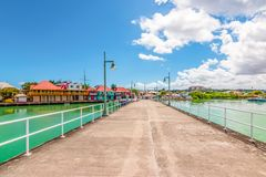 Cruise port of St John`s, Antigua, Caribbean stock photo
