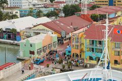 The cruise port of St. John`s in Antigua - Caribbean stock image