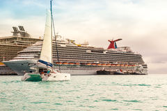 Cruise Port St. Maarten Stock Photography