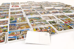 Cruise ports of call postcards with rear blank Royalty Free Stock Image