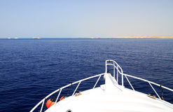 Cruise on Red Sea. Cruise on luxury yacht in Red Sea - Egypt Royalty Free Stock Image