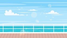 Cruise, reis en toerismeconcept stock illustratie