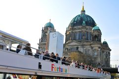 Cruise on river Spree in Berlin Royalty Free Stock Photos