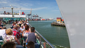 Cruise through Rotterdam Port, the Netherlands Royalty Free Stock Photography