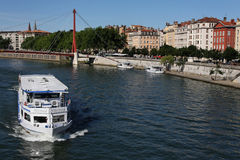 Cruise on Saone River Royalty Free Stock Image