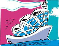 Cruise-schip royalty-vrije illustratie