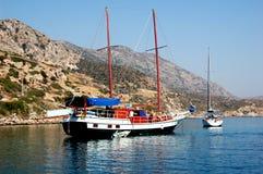 Cruise on schooner in Turkey Royalty Free Stock Photos