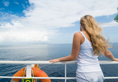 Cruise in sea Stock Photo