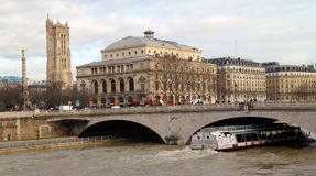Cruise on The Seine, Paris Royalty Free Stock Image
