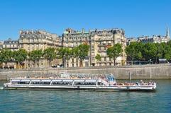 Cruise on Seine, Paris Stock Images