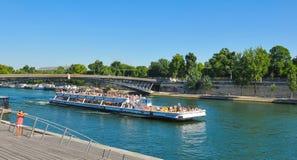 Cruise on Seine, Paris Royalty Free Stock Photo
