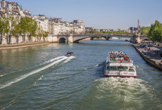 Cruise on Seine River Stock Photography