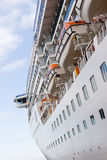 Cruise ship. A view from the side of the cruise ship Stock Photos