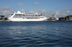 Cruise ship. In the harbor Stock Photo