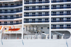 Cruise ship. Side view of the cruise ship Royalty Free Stock Photography